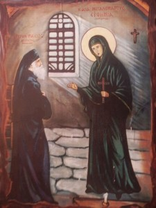 St Efimia and St Paisios the Athonite