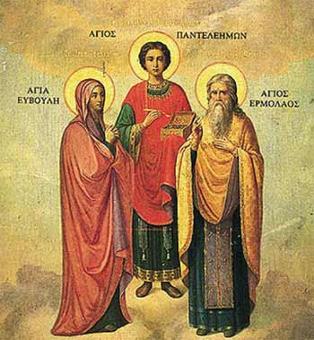 St Evoyli  St. Panteleimon  St Hermolaos