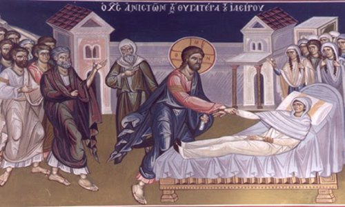 The Resurrection of Jairus daughter The healing of the bleeding woman