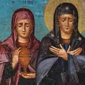 The Myrrhbearing Women approach the Lord with the logic of the heart